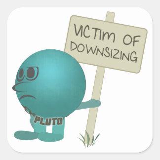 Plutón: Víctima de la reducción de la talla Pegatina Cuadrada