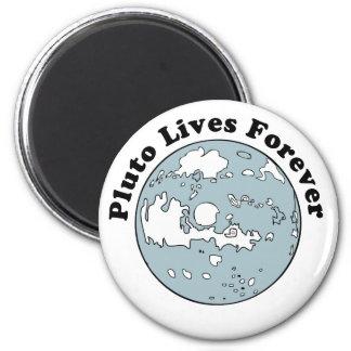Plutón vive para siempre imán redondo 5 cm