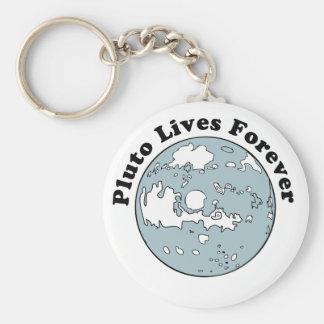 Plutón vive para siempre llavero redondo tipo pin