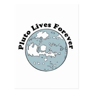 Plutón vive para siempre postal