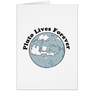 Plutón vive para siempre tarjeta de felicitación