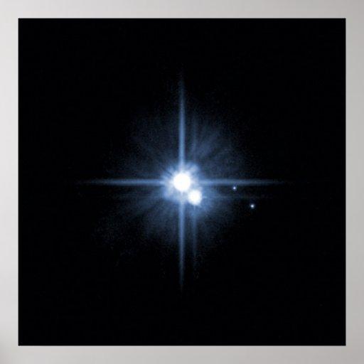 Plutón y 3 lunas posters
