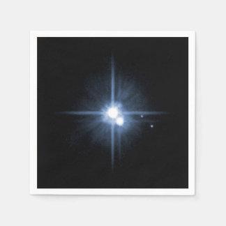 Plutón y 3 lunas servilletas desechables
