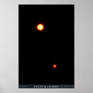 Plutón y Charon Póster