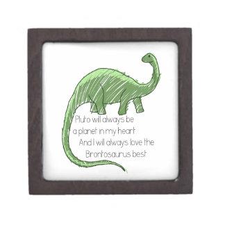 Plutón y el Brontosaurus Caja De Joyas De Calidad