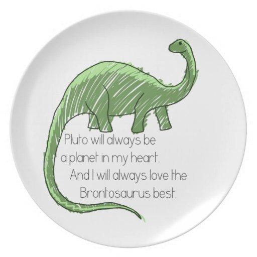 Plutón y el Brontosaurus Plato