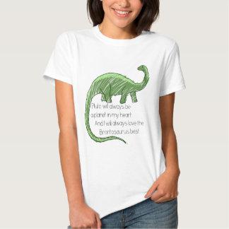 Plutón y el Brontosaurus Poleras