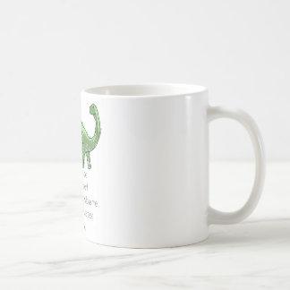 Plutón y el Brontosaurus Taza De Café