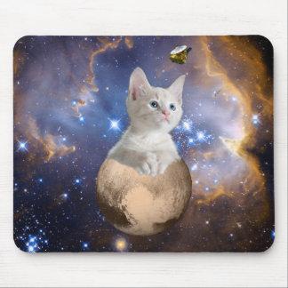 Plutón y personalizable lindo del gatito alfombrilla de raton
