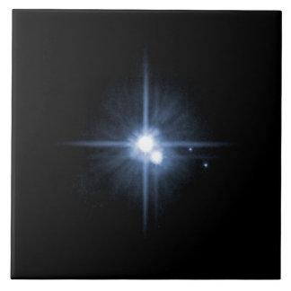 Plutón y sus lunas Charon, Nix, y hydra Unlab Azulejo Cerámica