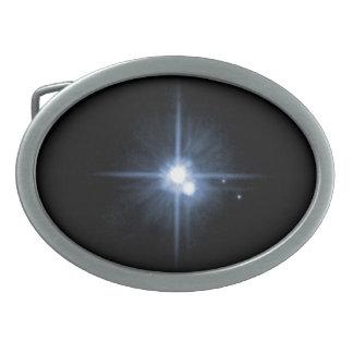 Plutón y sus lunas Charon, Nix, y hydra Unlab Hebilla Cinturon Oval