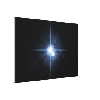 Plutón y sus lunas Charon, Nix, y hydra Unlab Impresiones En Lienzo Estiradas