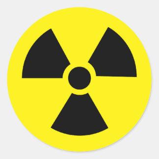 plutonio - elemento radiactivo transuránico pegatina