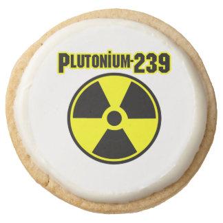 plutonium 239 radioactive material sign round shortbread cookie