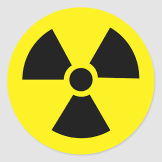 plutonium - Transuranic radioactive element Classic Round Sticker