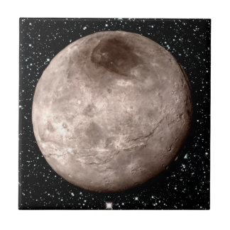 PLUTO'S MOON CHARON star background (solar system) Ceramic Tile