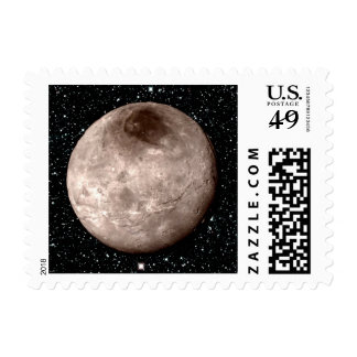 PLUTO'S MOON CHARON star background (solar system) Postage