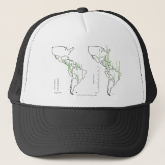 pluviomético map density South America Trucker Hat