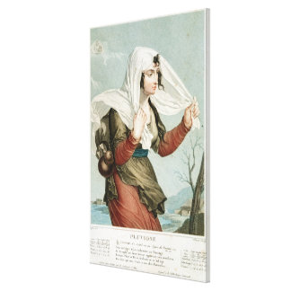 Pluviose fifth month of the Republican Stretched Canvas Print