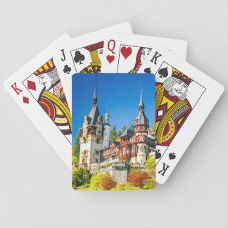 Plying cards Peles castle Sinaia