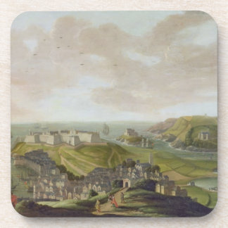 Plymouth, 1673 (oil on canvas) drink coaster