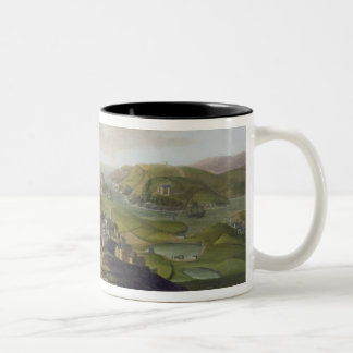 Plymouth, 1673 (oil on canvas) Two-Tone coffee mug