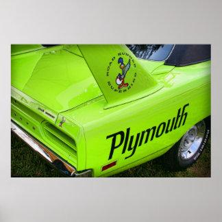 Plymouth 1970 Superbird Póster