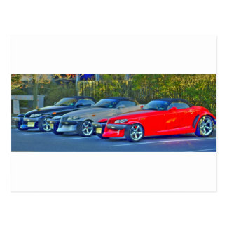 Plymouth 3 Prowlers Postcard
