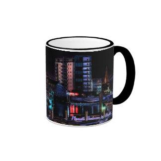 Plymouth Barbican by Night Ringer Coffee Mug