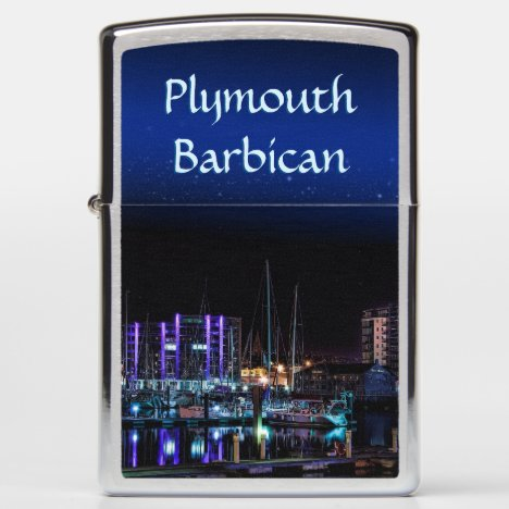 Plymouth Barbican by night Zippo Lighter