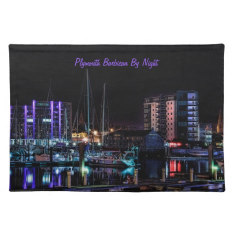 Plymouth Barbican View Cloth Placemat