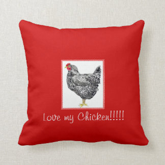 plymouth barred rock hen pillow,Chicken pillow
