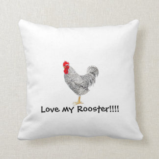 plymouth barred rock rooster pillow,chicken pillow