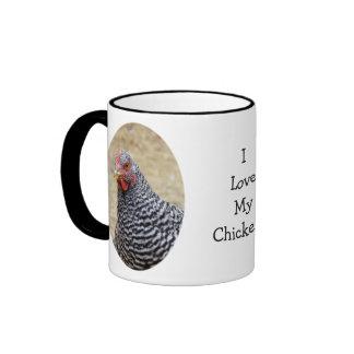 Plymouth barró la fotografía de la gallina de la taza de dos colores