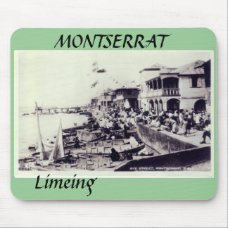 Plymouth - Bay Street, MONTSERRAT, Limeing Mouse Mat