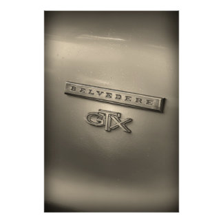 Plymouth Belvedere GTX Badge Emblem Poster Art