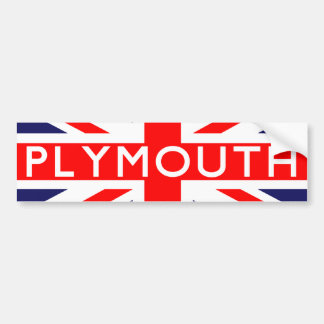Plymouth : British Flag Bumper Sticker