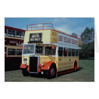 "Plymouth Corp. Leyland """"Opentop"""" in Centenary li Greeting Card"