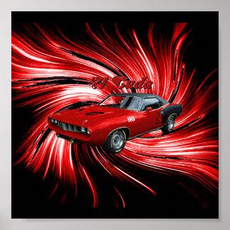 Plymouth Cuda Poster