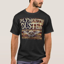 Plymouth Duster Against Eroded Flag - Skull n Wing T-Shirt