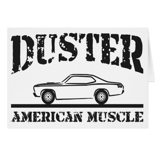 Plymouth Duster American Muscle Car Greeting Card