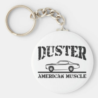 Plymouth Duster American Muscle Car Basic Round Button Keychain