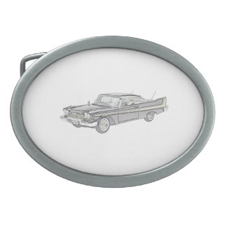 Plymouth Fury 1958 Oval Belt Buckle