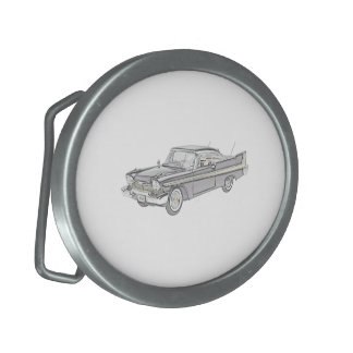 Plymouth Fury 1958 Oval Belt Buckle