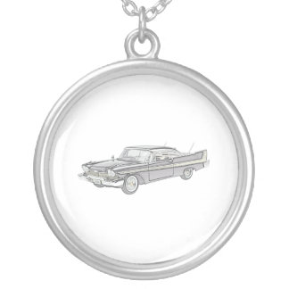 Plymouth Fury 1958 Silver Plated Necklace