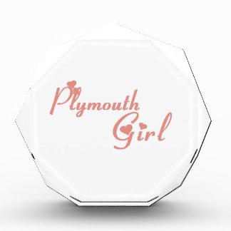 Plymouth Girl Acrylic Award