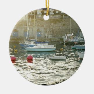 Plymouth harbor ceramic ornament