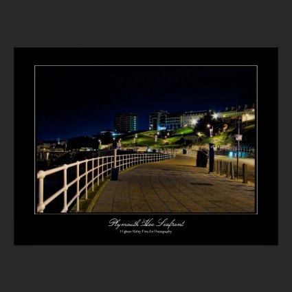 Plymouth Hoe Seafront gallery-style poster print