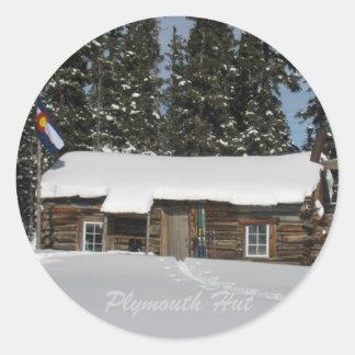 Plymouth Hut Classic Round Sticker