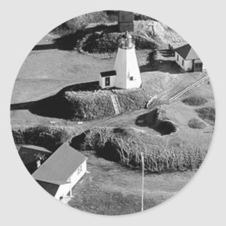 Plymouth Lighthouse Classic Round Sticker